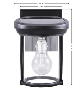 Solar Coach Lantern with GS Solar LED Light Bulb GS-1B