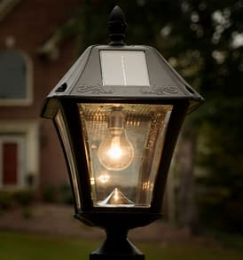 Gama Sonic Baytown II Bulb Solar Post Light GS-105B-FPW Application