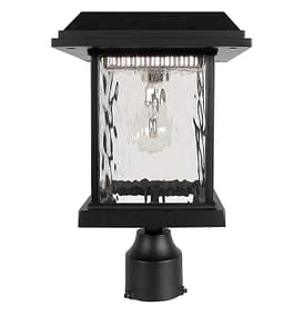 Gama Sonic Solar Lighting Aspen Solar Post Light GS-8F