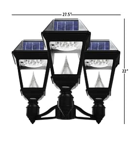 Gama Sonic Imperial II Series - Triple Head Solar Post Light GS-97NF3