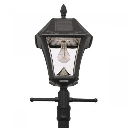 Gama Sonic Baytown II Bulb Solar Lamp with EZ Anchor and Lamp Post GS-105B-SG